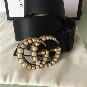 Brand new pearl Gucci belt
